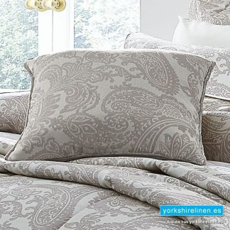 Opulent Jacquard Champagne Square Cushion - Soft Furnishings from Yorkshire Linen Fuengirola Marbella Spain