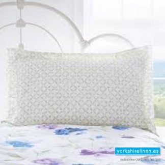Celestine Blue Oxford Pillowcase from Yorkshire Linen Warehouse, Fuengirola & Marbella, Costa del Sol