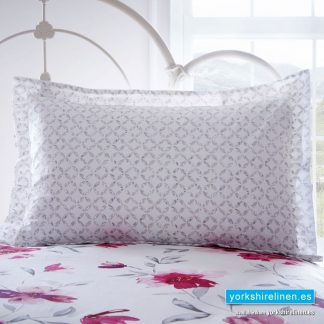 Celestine Blush Pink Oxford Pillowcase from Yorkshire Linen Warehouse, Fuengirola & Marbella, Costa del Sol