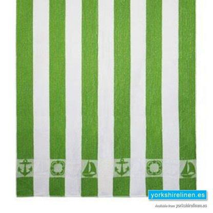 Striped Beach Towel, Green