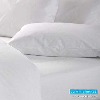 White 100 Cotton Fitted Sheet Yorkshire Linen Sl Trade Hospitality Linen