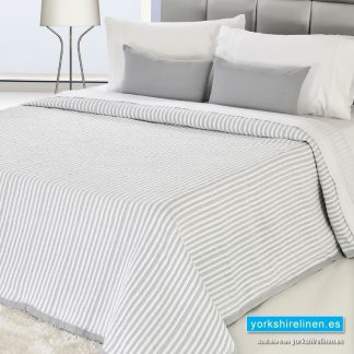 Bambu Cotton Rich Lightweight Bedspread, Grey