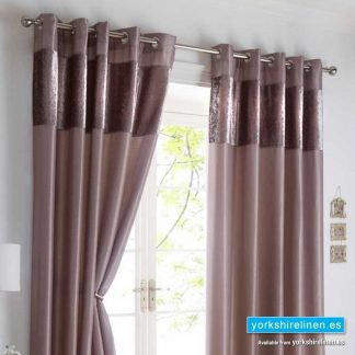 Boulevard Mink Ring Top Curtains from Yorkshire Linen Spain