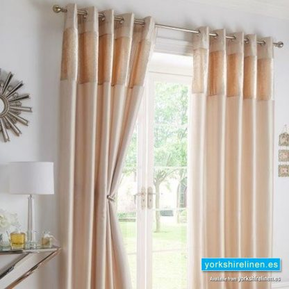 Boulevard Oyster Ring Top Curtains from Yorkshire Linen Spain