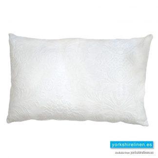 Lorena Jacquard Cushion, White