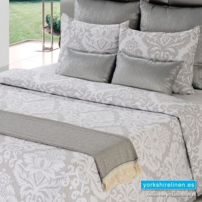 Lorena Lightweight Summer Bedspread, Grey