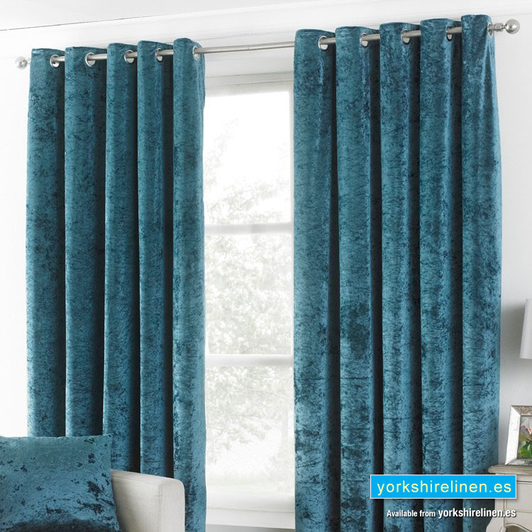 Verona Crushed Velvet Curtains Teal, Can You Wash Crushed Velvet Curtains
