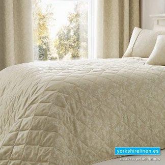 Ebony Jacquard Natural Bedspread