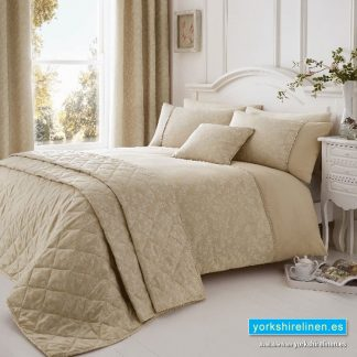 Ebony Jacquard Natural Duvet Cover Set, Yorkshire Linen, Mijas Costa, Marbella, Spain