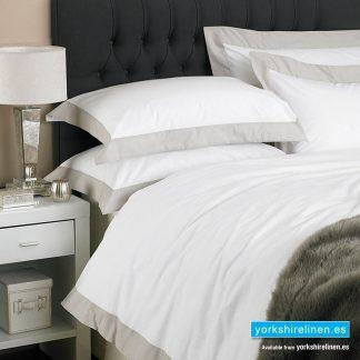 Harvard 100pc Cotton Duvet Cover Set Grey from Yorkshire Linen Mijas Costa Marbella Costa del Sol