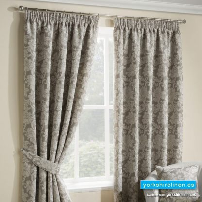 Salisbury Champagne Pencil Pleat Curtains, Mijas Costa, Marbella, Spain