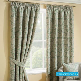 Salisbury Duck Egg Pencil Pleat Curtains, Mijas Costa, Marbella, Spain