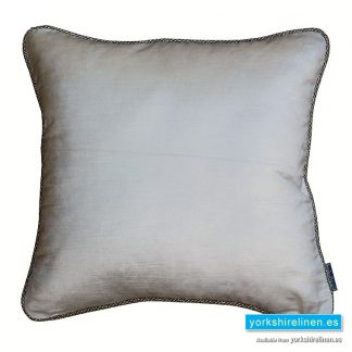 Corded Velvet Feather Filled Cushion, Ivory, from Yorkshire Linen Warehouse, Mijas Costa, Marbella