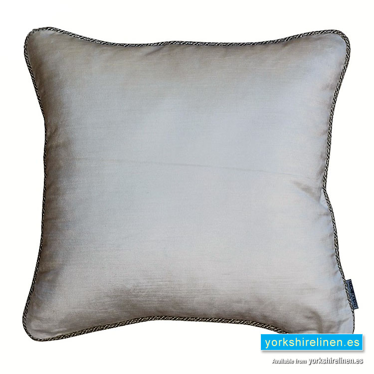 Corded Velvet Feather Filled Cushion Ivory