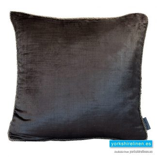 Corded Velvet Feather Filled Cushion, Slate Grey, from Yorkshire Linen Warehouse, Mijas Costa, Marbella