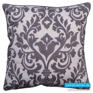 Laran Grey Jacquard Cushion - Yorkshire Linen Warehouse, Mijas Costa, Marbella