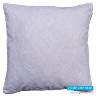 Laran White Jacquard Cushion - Yorkshire Linen Warehouse, Mijas Costa, Marbella