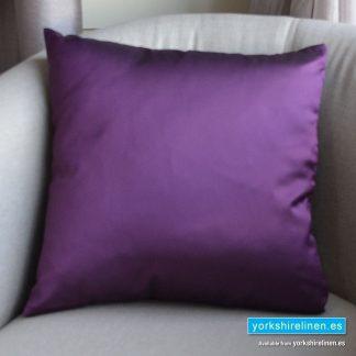 Luxury Sateen Cushion, Aubergine - Buy cushions online from Yorkshire Linen Warehouse, Mijas Marbella