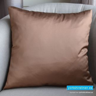 Luxury Sateen Cushion, Bronze - Buy cushions online from Yorkshire Linen Warehouse, Mijas Marbella
