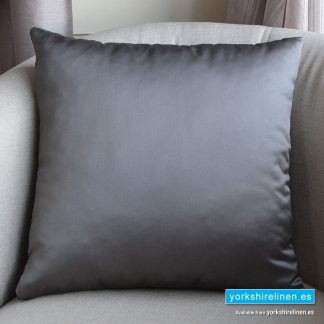 Luxury Sateen Cushion, Grey - Buy cushions online from Yorkshire Linen Warehouse, Mijas Marbella