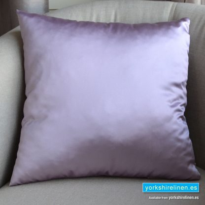 Luxury Sateen Cushion, Lilac - Buy cushions online from Yorkshire Linen Warehouse, Mijas Marbella