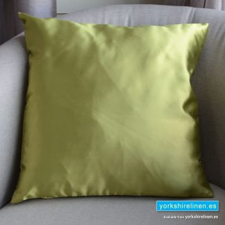 Luxury Sateen Cushion, Lime - Buy cushions online from Yorkshire Linen Warehouse, Mijas Marbella