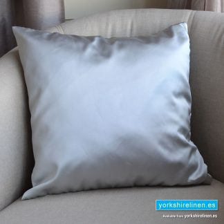 Luxury Sateen Cushion, Silver - Buy cushions online from Yorkshire Linen Warehouse, Mijas Marbella