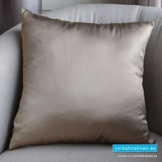 Luxury Sateen Cushion, Taupe - Buy cushions online from Yorkshire Linen Warehouse, Mijas Marbella