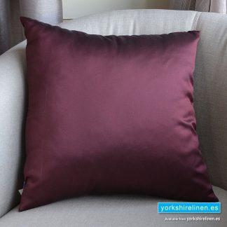 Luxury Sateen Cushion, Wine - Buy cushions online from Yorkshire Linen Warehouse, Mijas Marbella