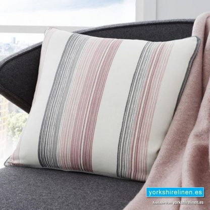 Rydell Stripe Cushion Blush Yorkshire Linen Warehouse