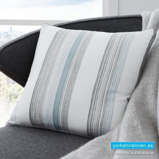 Rydell Stripe Cushion Teal Yorkshire Linen Warehouse