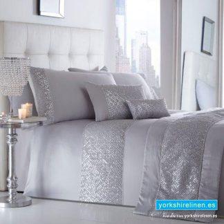 Shimmer Silver Duvet Cover Set