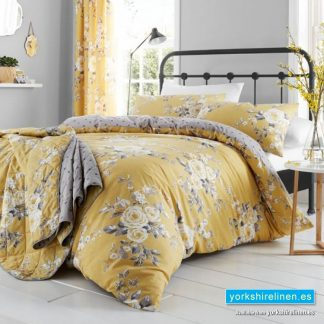 Canterbury Ochre Duvet Cover Set from Yorkshire Linen Warehouse