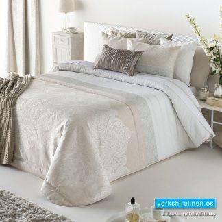 Chloe Beige Bedspread Yorkshire Linen Warehouse Spain 2