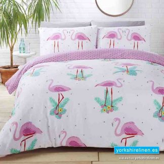 Flamingo Fun Duvet Cover Set - Buy from Yorkshire Linen Warehouse Spain