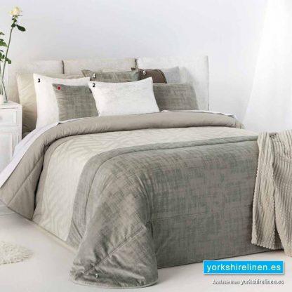 Idara Taupe Bedspread Yorkshire Linen Warehouse Spain