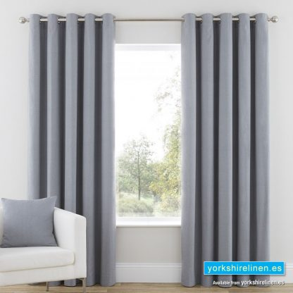 Nevada Grey Curtains from Yorkshire Linen Warehouse