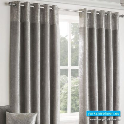 Nova Silver Ring Top Curtains Yorkshire Linen Warehouse Spain