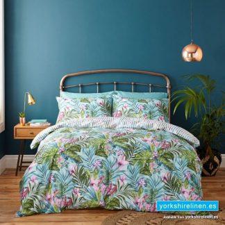 Tropical Leaf Duvet Cover Set from Yorkshire Linen Warehouse