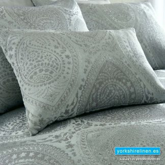 Anise Silver Boudoir Cushion - Yorkshire Linen Warehouse
