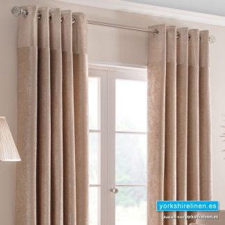 Nova Champagne Ring Top Curtains - Yorkshire Linen Warehouse