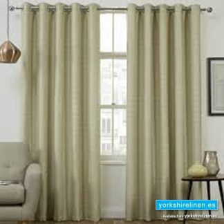Phoenix Jacquard Citrus Interlined Ring Top Curtains - Yorkshire Linen Warehouse