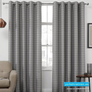 Phoenix Jacquard Interlined Ring Top Curtains - Yorkshire Linen Warehouse