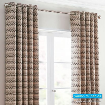 Rio Ochre Ring Top Curtains - Yorkshire Linen Warehouse