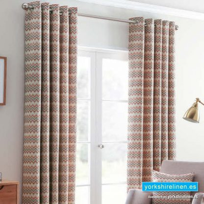 Rio Spice Ring Top Curtains - Yorkshire Linen Warehouse