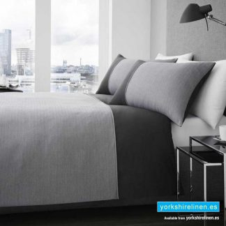 Signature Harrison Charcoal Duvet Cover Set - Yorkshire Linen Warehouse, Spain
