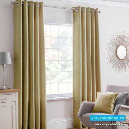 Versailles Ochre Ring Top Curtains