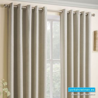 Vogue Cream Ring Top Blackout Curtains - Yorkshire Linen Warehouse