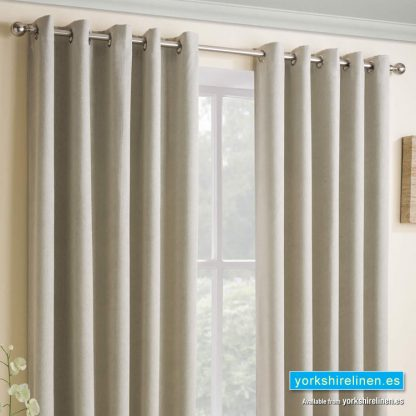 Vogue Latte Ring Top Blackout Curtains - Yorkshire Linen Warehouse