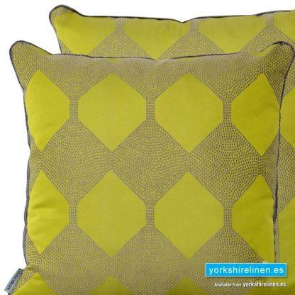 Lime Geo Cushion